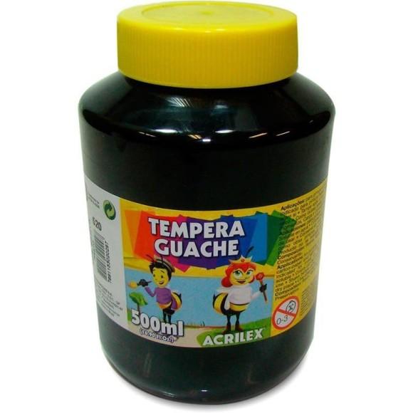 TINTA GUACHE 500ML PRETO 520 ACRILEX