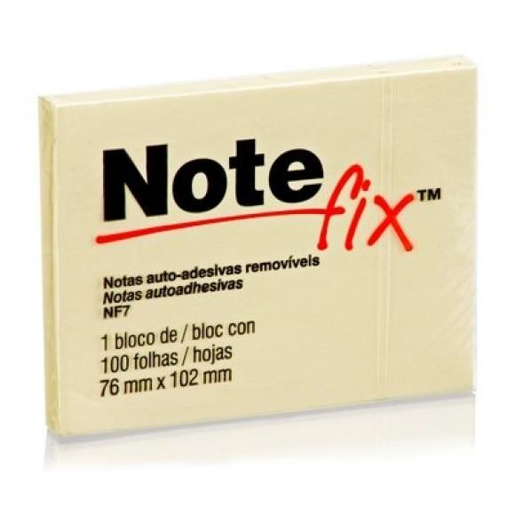 BLOCO ADESIVO NOTEFIX AMARELO 100FLS 76X102MM 3M