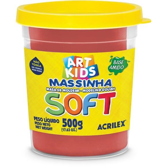 MASSINHA DE MODELAR SOFT 500G VERMELHO 103 ACRILEX