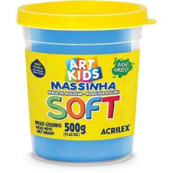 MASSINHA DE MODELAR SOFT 500G AZUL 109 ACRILEX