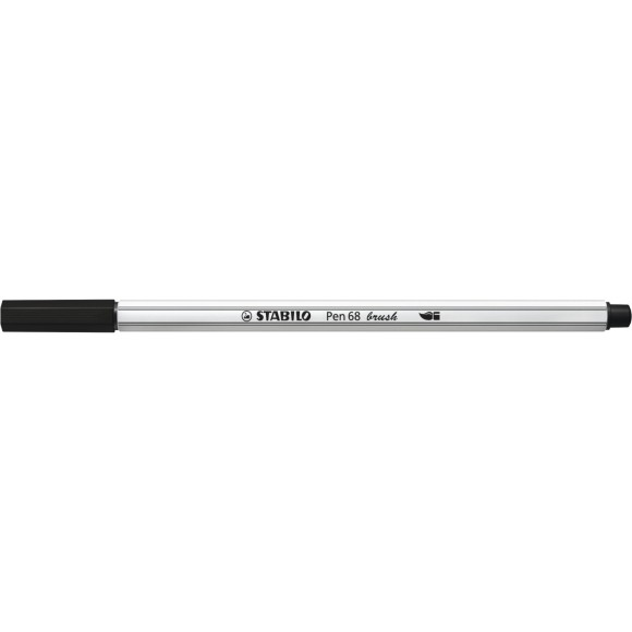 CANETA BRUSH PEN 68 PRETO 568/46 STABILO