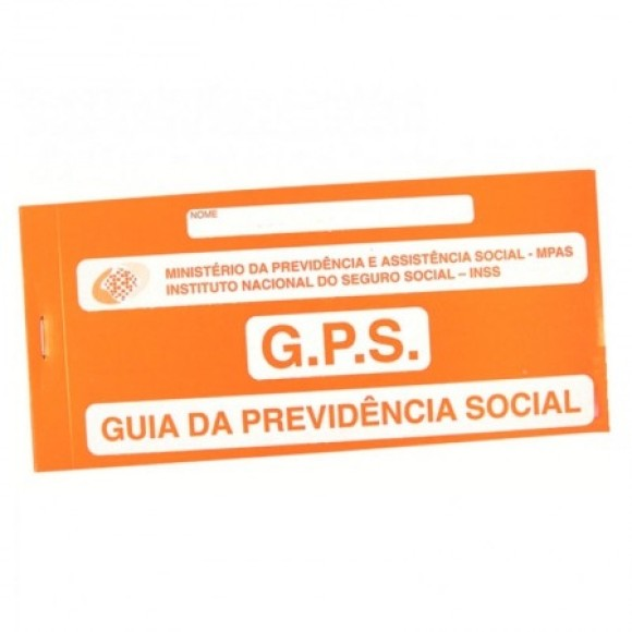 CARNÊ GPS INSS GUIA PREVIDÊNCIA SOCIAL 12 FLS 2 VIAS TAMOIO
