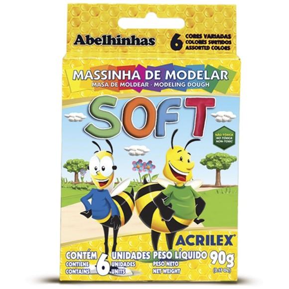 MASSINHA DE MODELAR SOFT 6 CORES ACRILEX