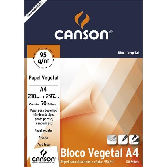 PAPEL VEGETAL A4 90G 50FLS CANSON